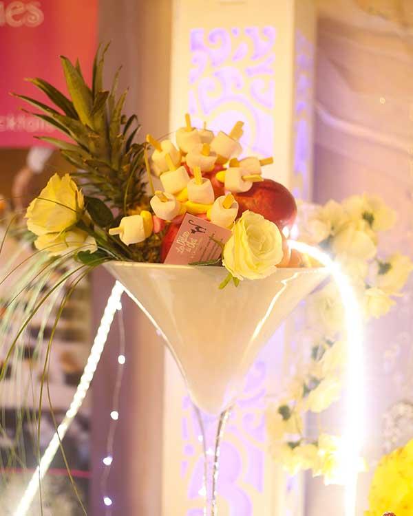 Coupe de fruits mariage