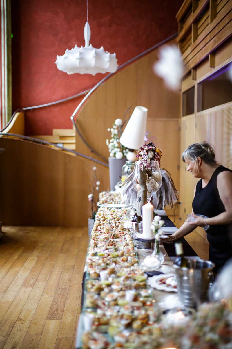 Décoration et dressage buffet